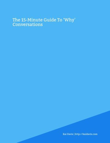 Market Research — The 15-Minute Guide To 'Why' Conversations