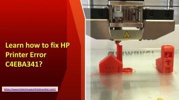 Learn how to fix HP Printer Error C4EBA341