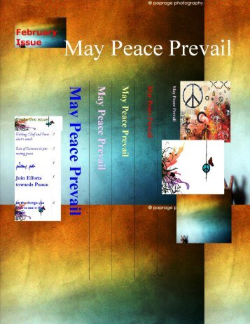 Page 1 Page 2 _ '_ Welcome for the 5th issue of r'May peace Prevail ...
