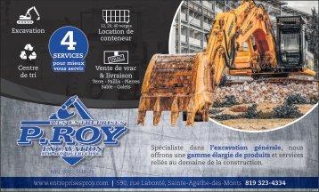Les entreprises P. Roy Excavation