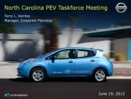 North Carolina PEV Taskforce Meeting - Advanced Energy