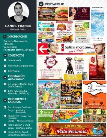 Curriculum Portafolio Daniel Franco