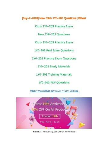 Real Citrix 1Y0-203 Test Questions Killtest
