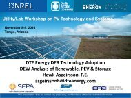 DTE Energy DER Technology AdoptionDEW Analysis of ... - EERE
