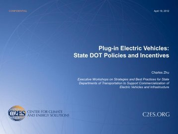 State DOT Policies and Incentives