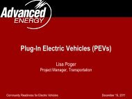 PEVs - Advanced Energy