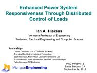 Enhanced Power System Responsiveness Through Distributed ...