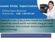 Network Connection Issue Instant Solution Lexmark Printer Service Number  Australia