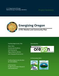 Project Summary - Oregon Solutions