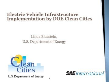 Electric Vehicle Infrastructure Implementation by DOE Clean ... - SAE