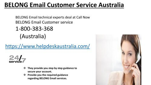 BELONG Webmail Customer Service 1-800-383-368 Phone Number Australia-Locked Account Recovery