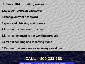 Call IINET Webmail Account 1-800-383-368 Support Phone Number Australia For Webmail Problems