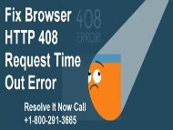 Fix browser http 408 Request Error +1-800-291-3665