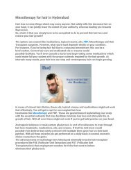 Mesotherapy for hair in Hyderabad