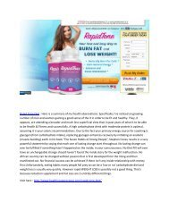 Rapid Tone Diet -  Free Health Benefits For Loosing weight
