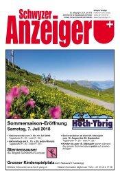 Schwyzer Anzeiger – Woche 27 – 6. Juli 2018