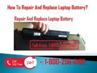 1-800-256-0160 Repair and Replace Laptop Battery