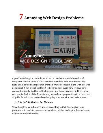 7 Annoying Web Design Problems
