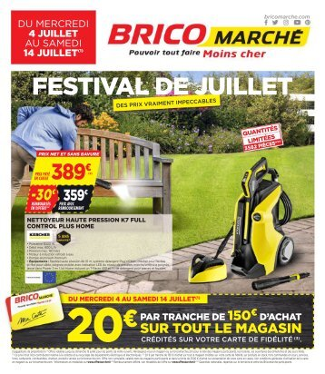 Bricomarche catalogue 4 juillet-14 juillet 2018