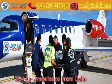 Take Air Ambulance from Delhi with Full ICU Setup by Sky Air Ambulance
