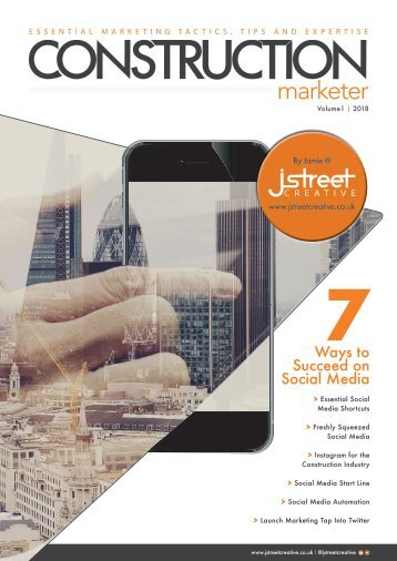 Construction Marketer Volume 1 2018 - Social Media