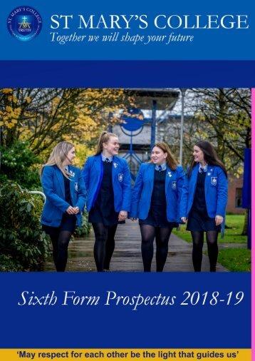 Sixth Form Prospectus 2018-19