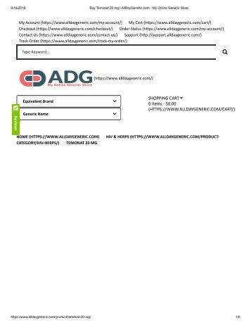 Buy Temonat 20 mg _ AllDayGeneric.com - My Online Generic Store