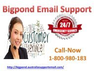 Bigpond Email Support| Reopen Hacked Account 1-800-980-183