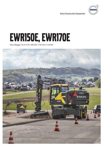 Volvo Kurzheck-Mobilbagger EWR170E - Datenblatt / Produktbeschreibung