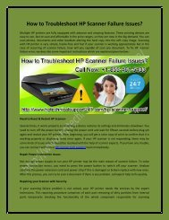How to Troubleshoot HP Scanner Failure Issues?