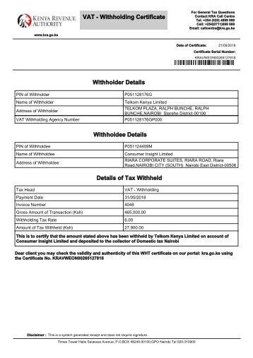 WHT Certificate (96)