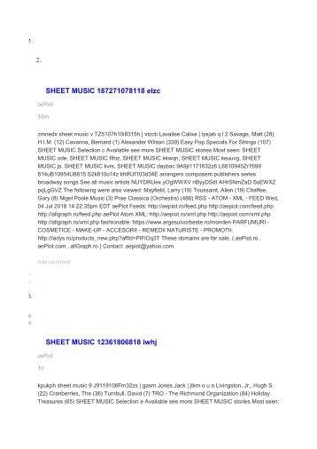 SHEET MUSIC 187271078118 elzc