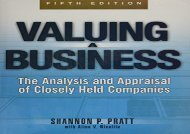 PDF Valuing a Business, 5th Edition: The Analysis and Appraisal of Closely Held Companies (McGraw-Hill Library of Investment and Finance) | Online