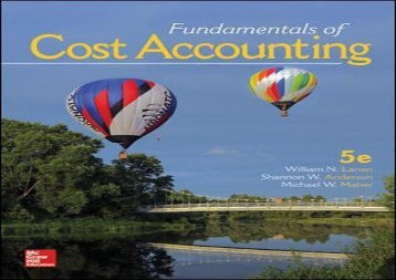 PDF Fundamentals of Cost Accounting | Download file
