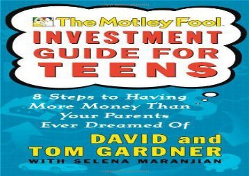 Free Motley Fool Investment Guide for Teens | PDF File