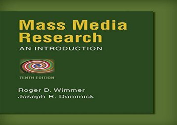 Read Mass Media Research (Wadsworth Series in Mass Communication and Journalism) | Ebook