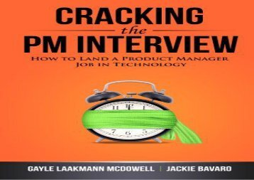 Download Cracking the PM Interview: How to Land a Product Manager Job in Technology | Ebook