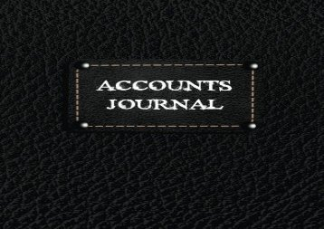 Free Accounts Journal: Journal Entires For Financial Accounting, General Accounting Notebook (V2) | pDf books