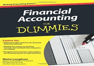 Free Financial Accounting for Dummies (US Edition) | pDf books
