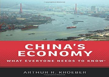 Free China s Economy What Everyone Needs to Know   PDF File