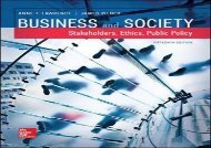Download Business and Society: Stakeholders, Ethics, Public Policy (Irwin Accounting) | pDf books
