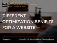 Different Optimization Benifits for a Website