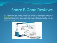 Make Your Snore B Gone A Reality
