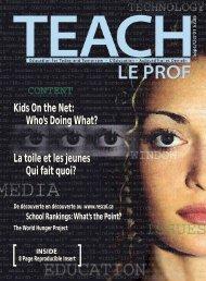 Kids On the Net: Who's Doing What? La toile et ... - TEACH Magazine