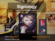 Leading Provider of Signs in Melbourne by Signology