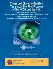 Closer and Closer to Reality – The e-Apostille Pilot Program ... - HCCH