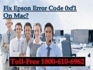 Fix Epson Error Code 0xf1 On Mac