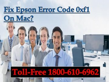 Fix Epson Error Code 0xf1 On Mac