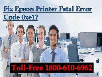Fix Epson Printer Fatal Error Code 0xe1