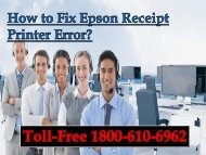 How to Fix Epson Receipt Printer Error